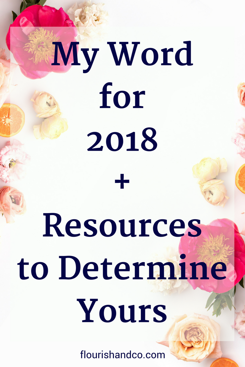 Word for 2018 + Resources.pngWord for 2018 | Jan Goals | Resolutions | Intentional Living