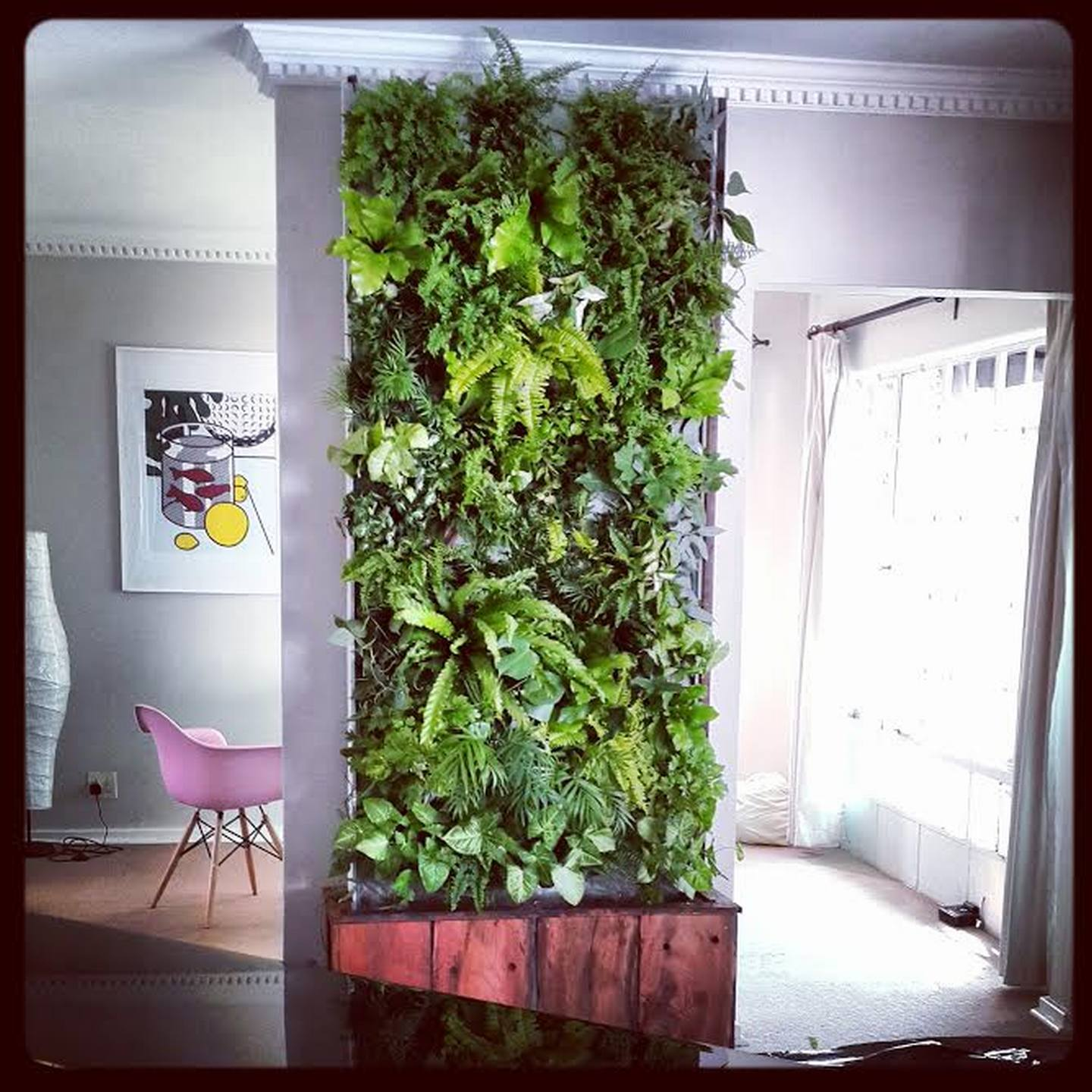 Interior Vertical Garden Living Room Design