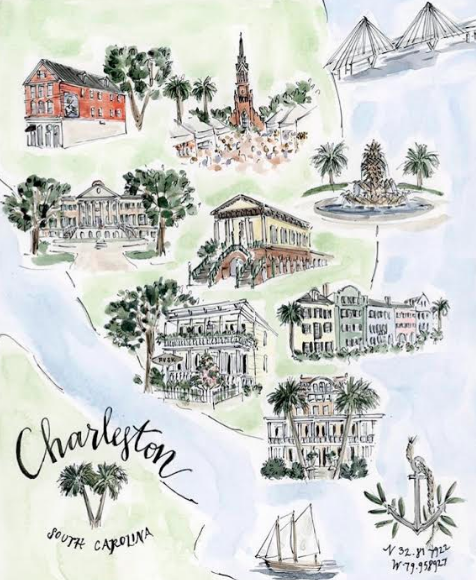 Incredible print of Charleston by the brilliant,Riley Sheehey! ( Visit her website! )