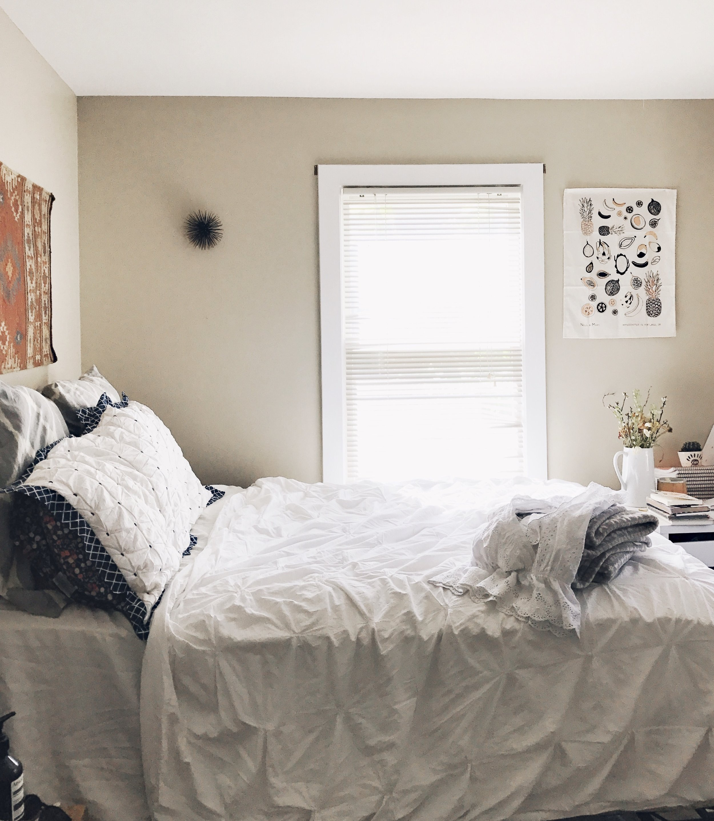 Finding balance in the little things...like making my bed every morning.