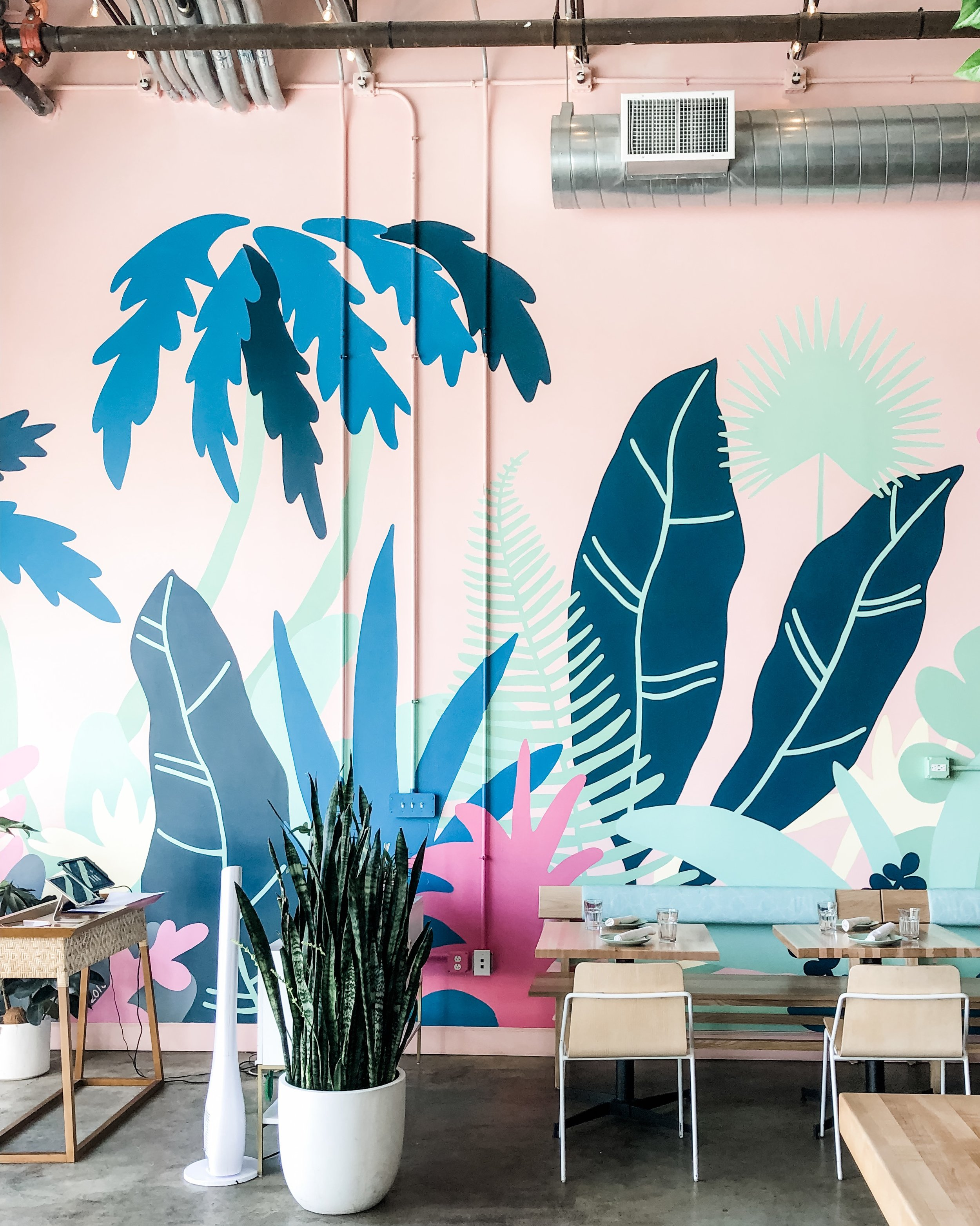 mural by Meg Biram for The Coconut Club