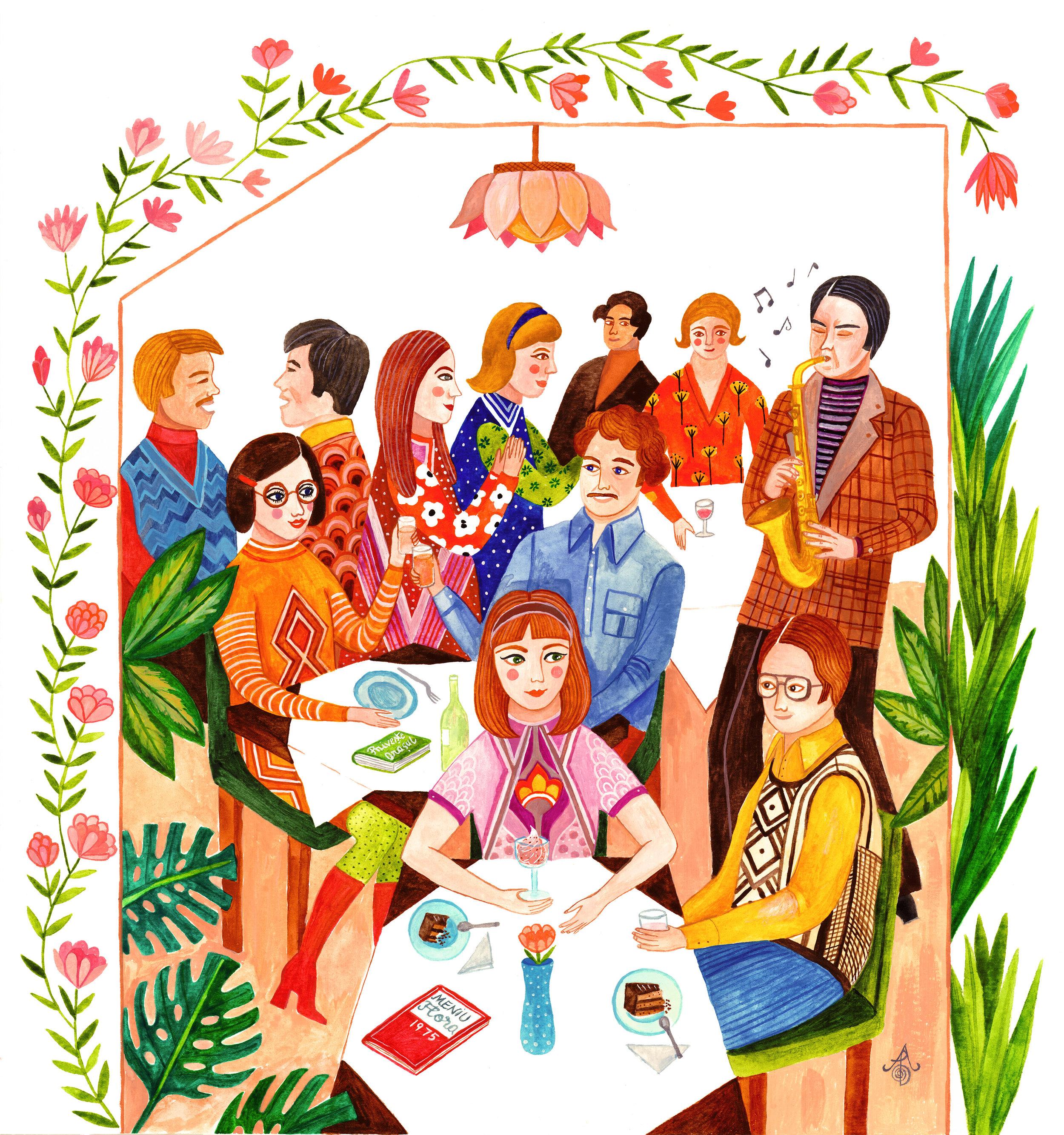 Ilustrație realizată de  Carine Arnakis