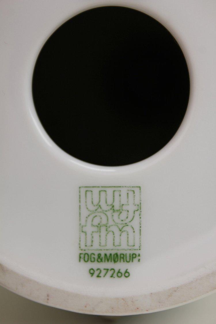 Fog Morup and Royal Copenhagen Porcelain Parsnips Lamp, 1960s — moona