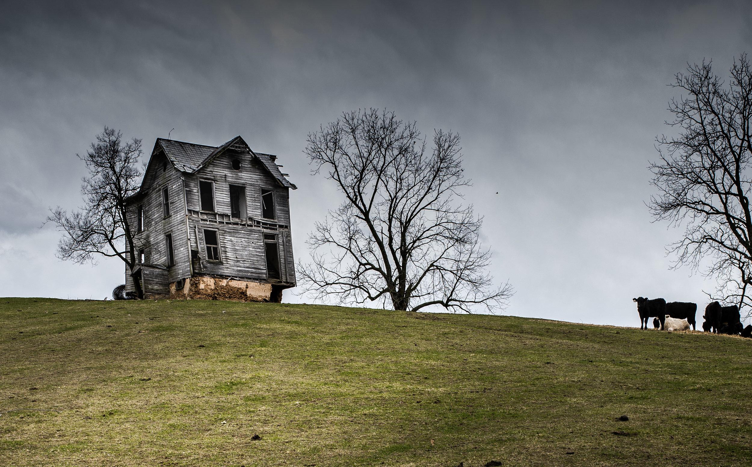 an old 1880's Virginia farmhouse clings to life…..