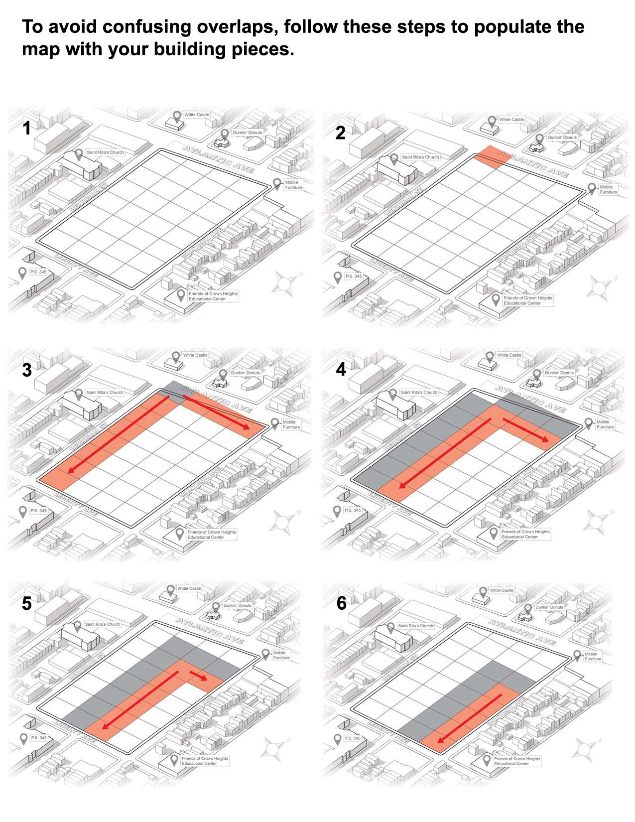 Instructions to avoid awkward overlaps