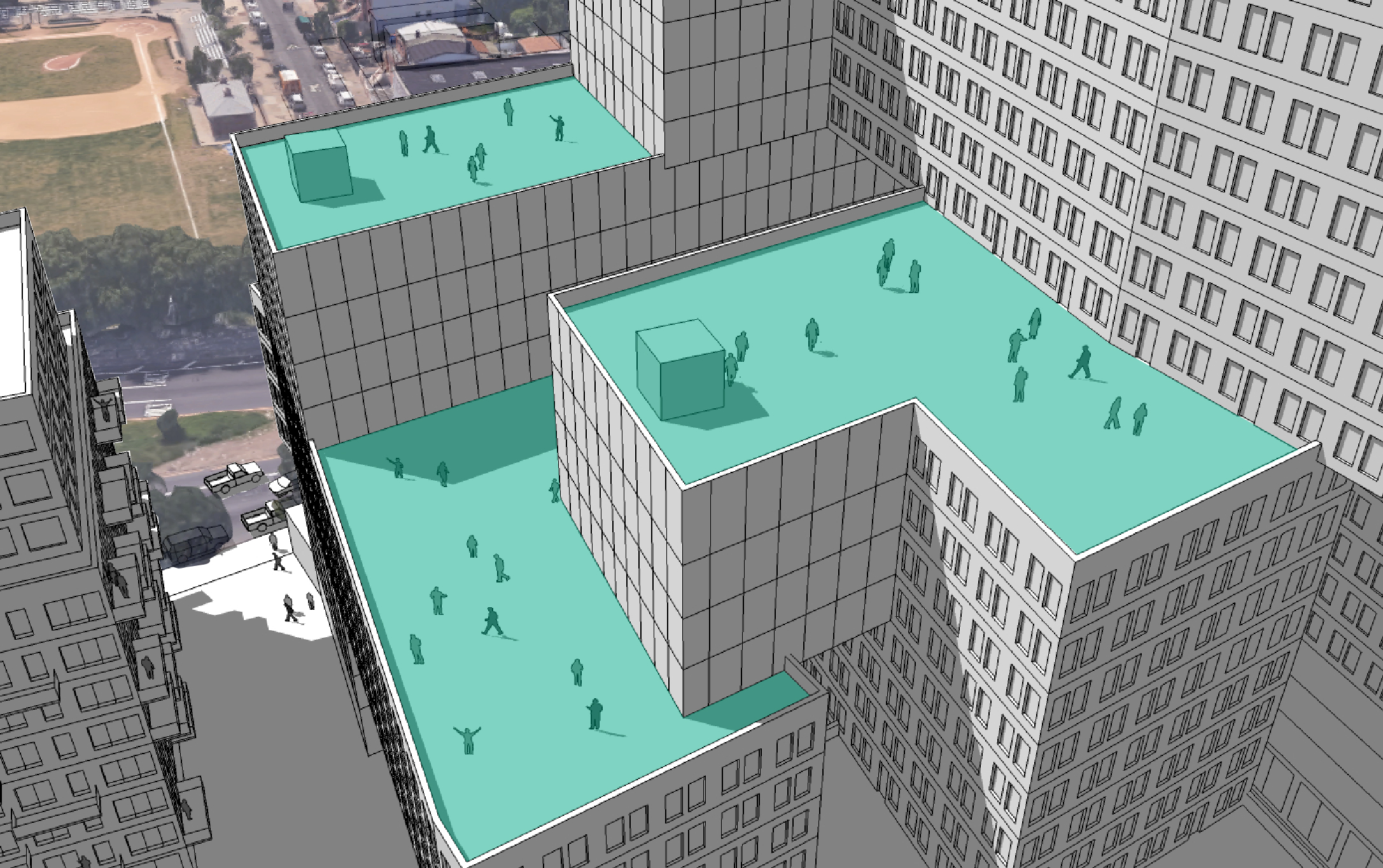 Socio-spatial Relationships Study: Elevated Public Spaces
