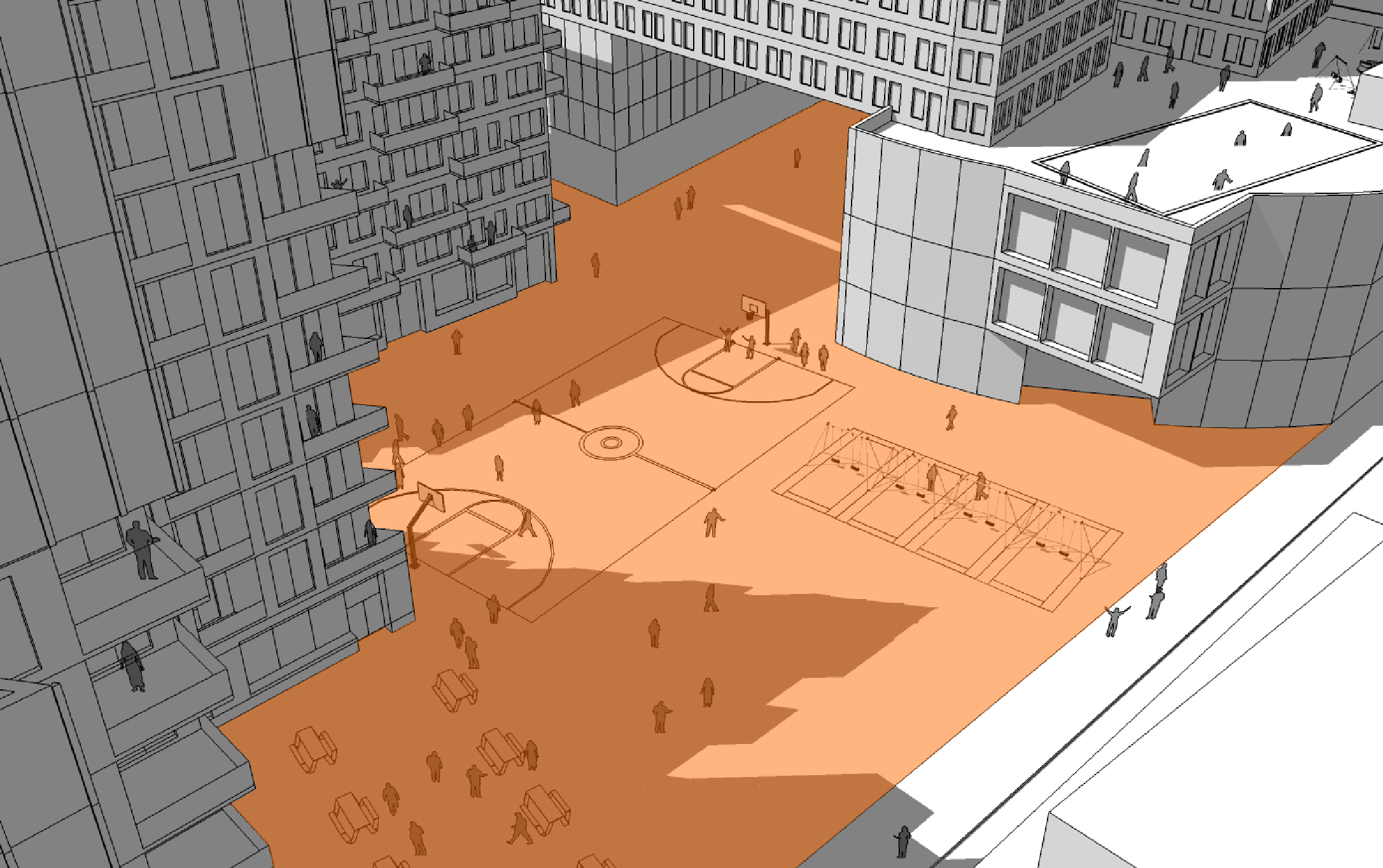 Socio-spatial Relationships Study: Schoolyard As Public Square