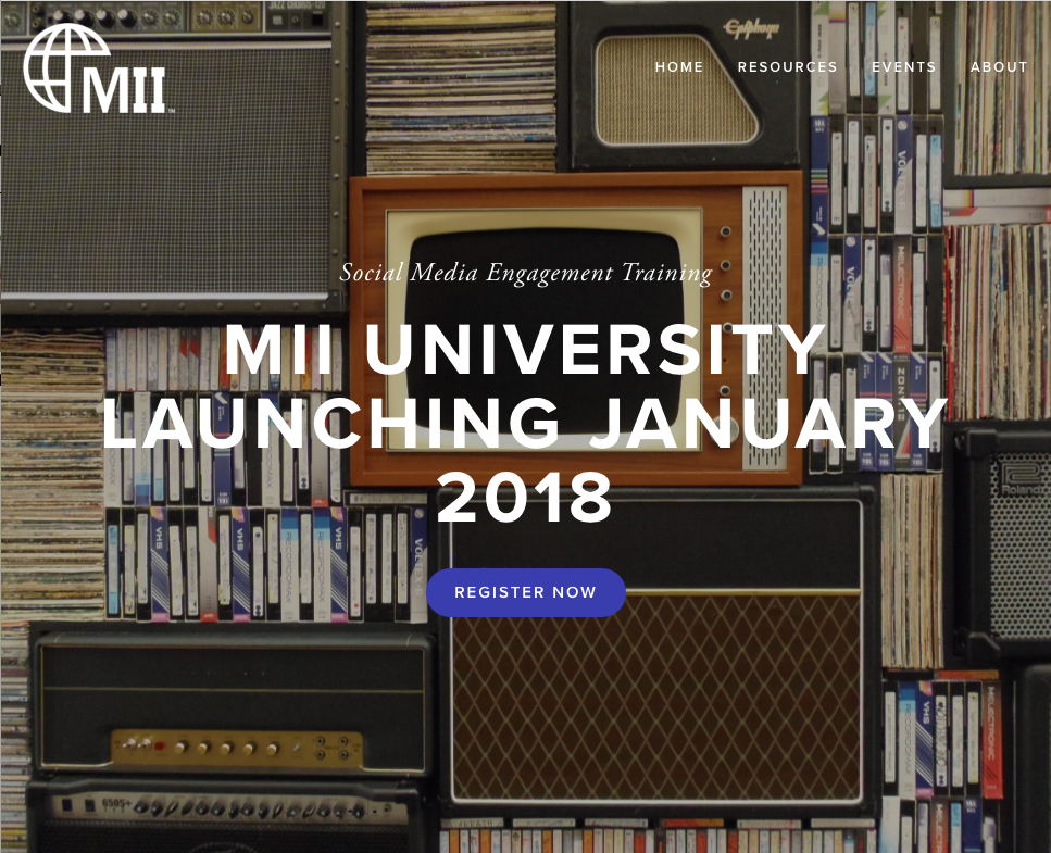 Website and More - MII needed a site, a newsletter, an online course and a full suite of other features. Media Tractor can help your company too, from beginning to end.