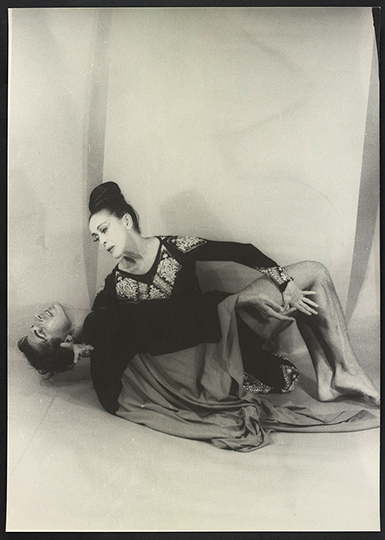 Portrait of Martha Graham and Bertram Ross, as Clytemenestra and Orestes, 1961 by Carl Van Vechten from the Library of Congress