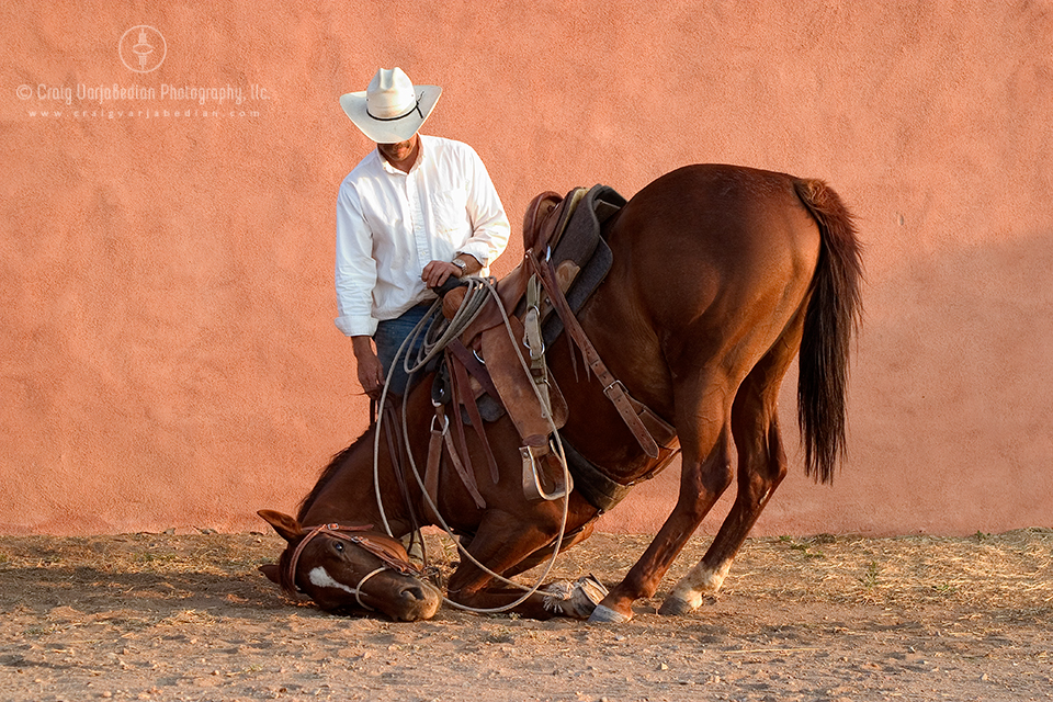 Sparrow and her Cowboy Richard, San Marcos, New Mexico  2004  Photograph by ©Craig Varjabedian