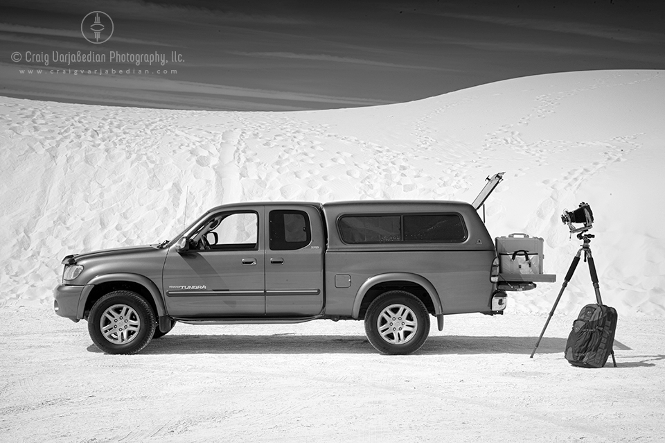 My 2003 Toyota Tundra at White Sands National Monument, Alamogordo, New Mexico 2013  Photograph by ©Craig Varjabedian