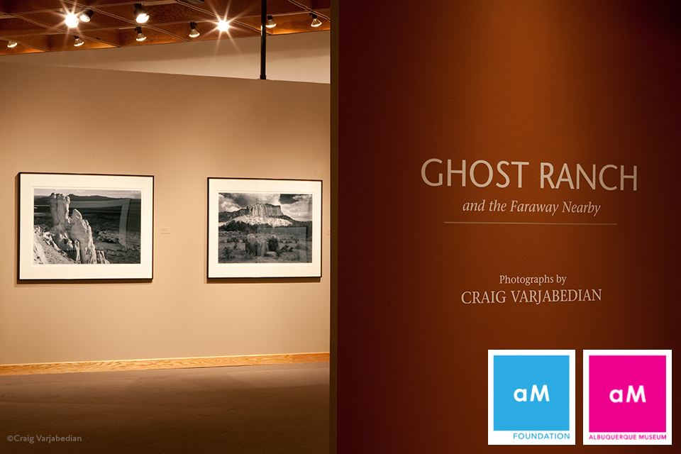 Exhibition Installation, Ghost Ranch and the Faraway Nearby, Albuquerque Museum of Art  2009