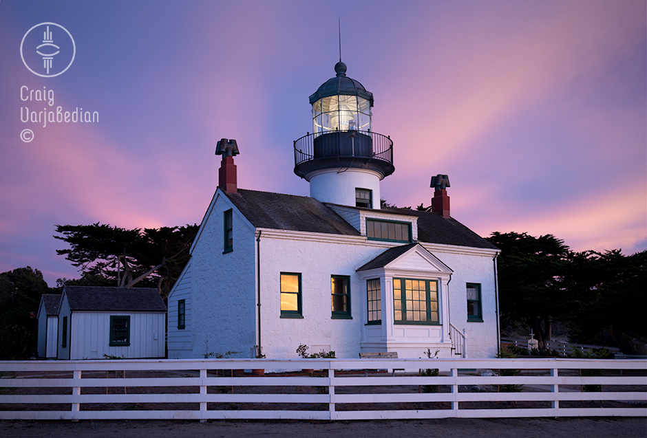 Point Pinos Lighthouse, Sunset, Pacific Grove, California