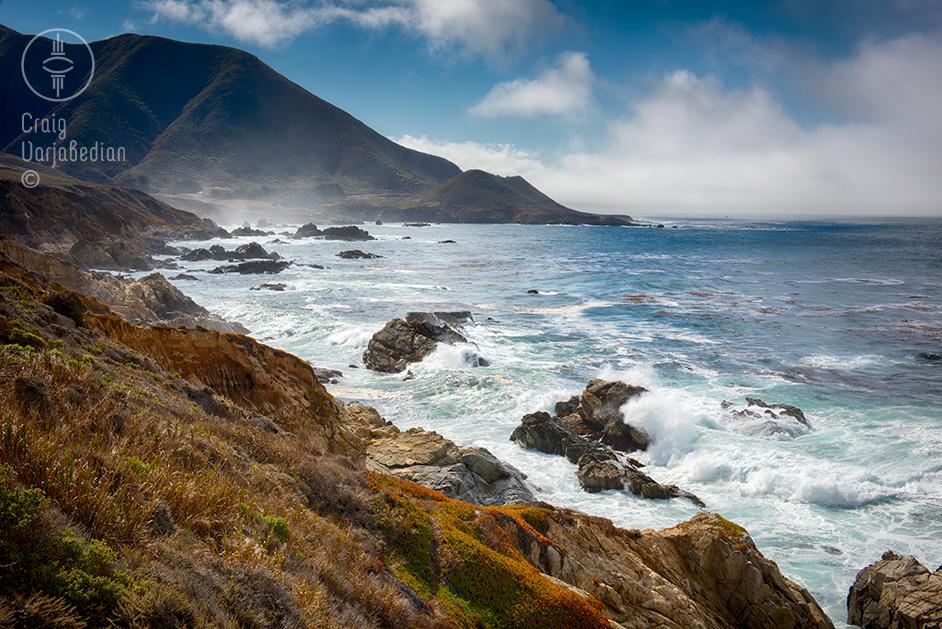 Waves along Big Sur Coast