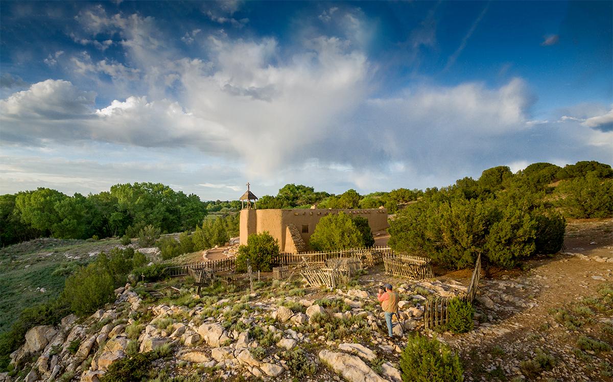 Photographing the Morada at El Rancho de las Golondrinas, nr. Santa Fe  Photograph by ©Tye Hardison