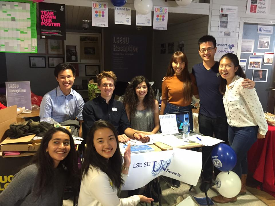 Members of the 2016-2016 Executive Committee at our Fresher Fair Stall, September 2016