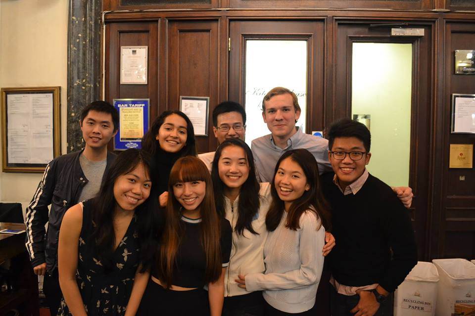 The 2016-2017 Executive Committee    Bottom Row (from Left to Right) : Charmaine Low, Jenna Yeh, Christine Deng, Jenna Yeh, Kristina Lau, Gabriel Francis Chua   Top Row (from Left to Right):  Michael Ongkauko, Sumati Semavoine, Ralph Chow, Viktor M. Salenius   Not in Picture:  Leticia Jin,Daria Bashkatova
