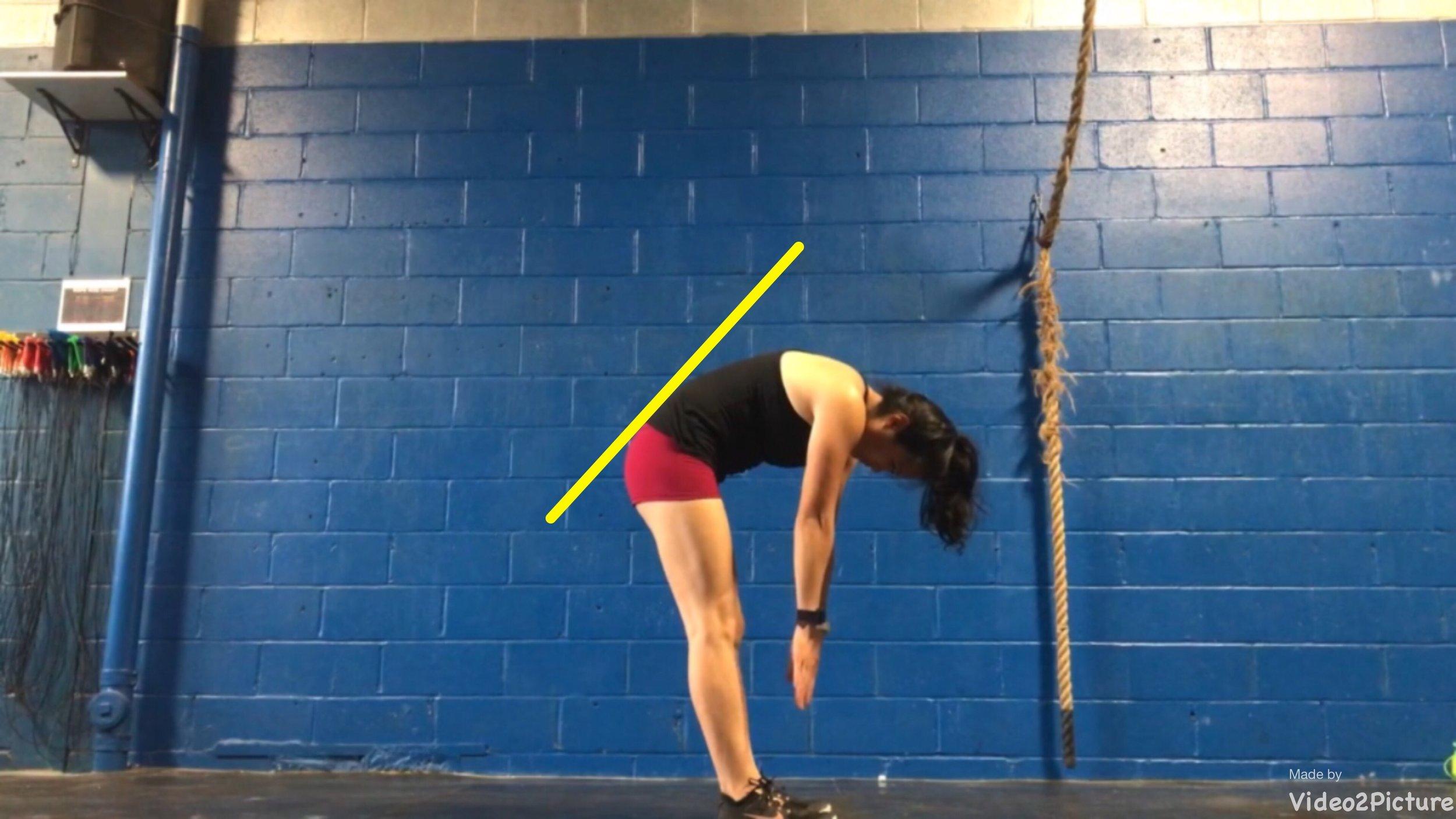 """""""Tight"""" hamstrings will limit forward tilt of your pelvis."""