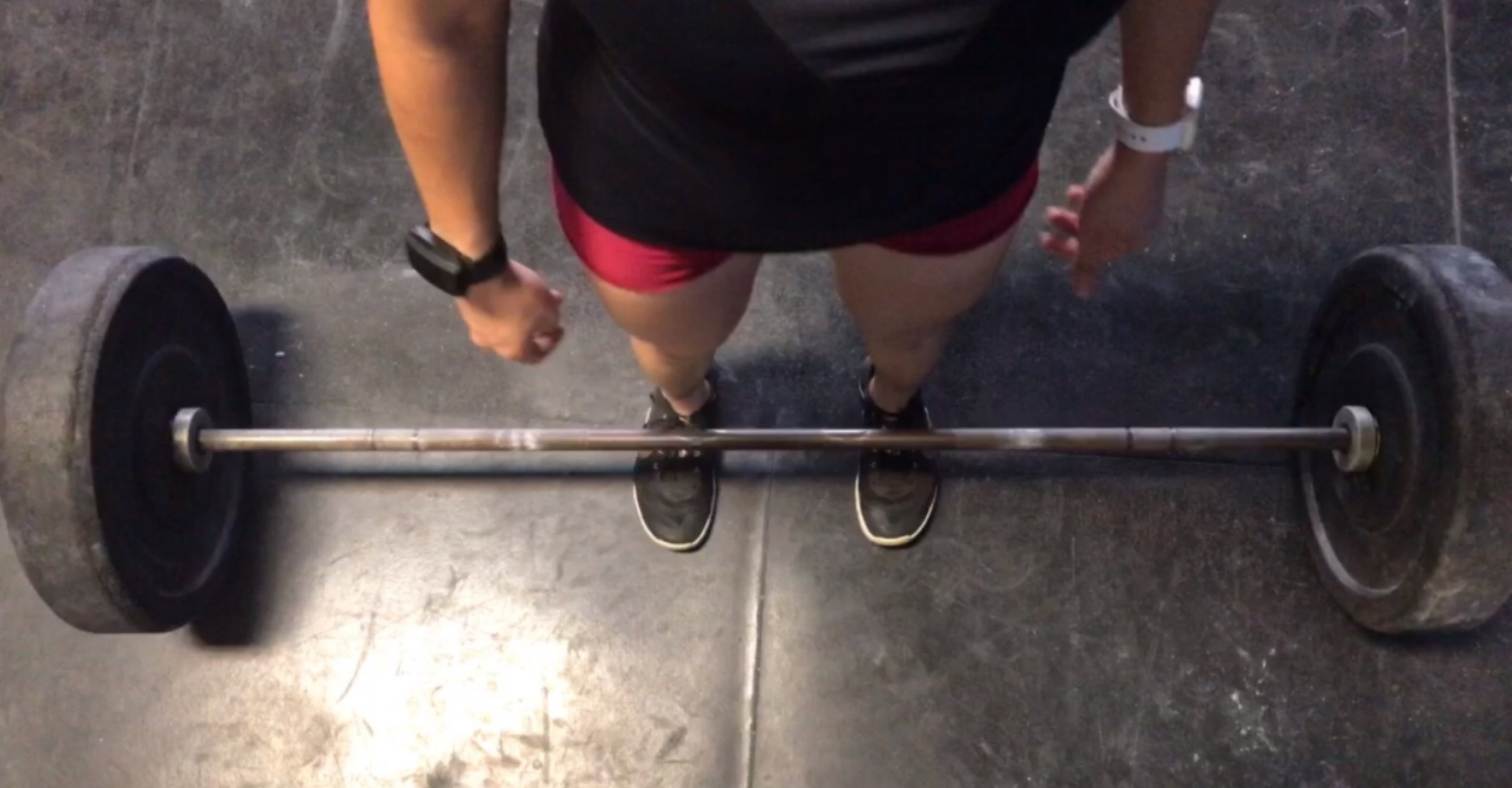 The weight should start over the middle of the foot.