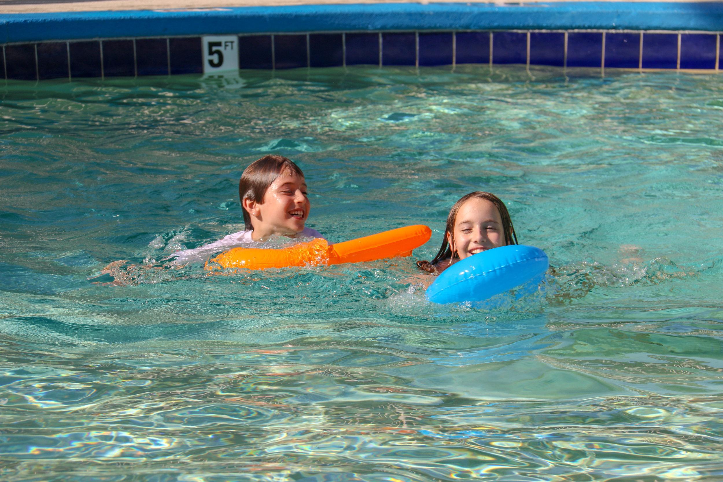 Am & B in pool - Asheville, NC.JPG