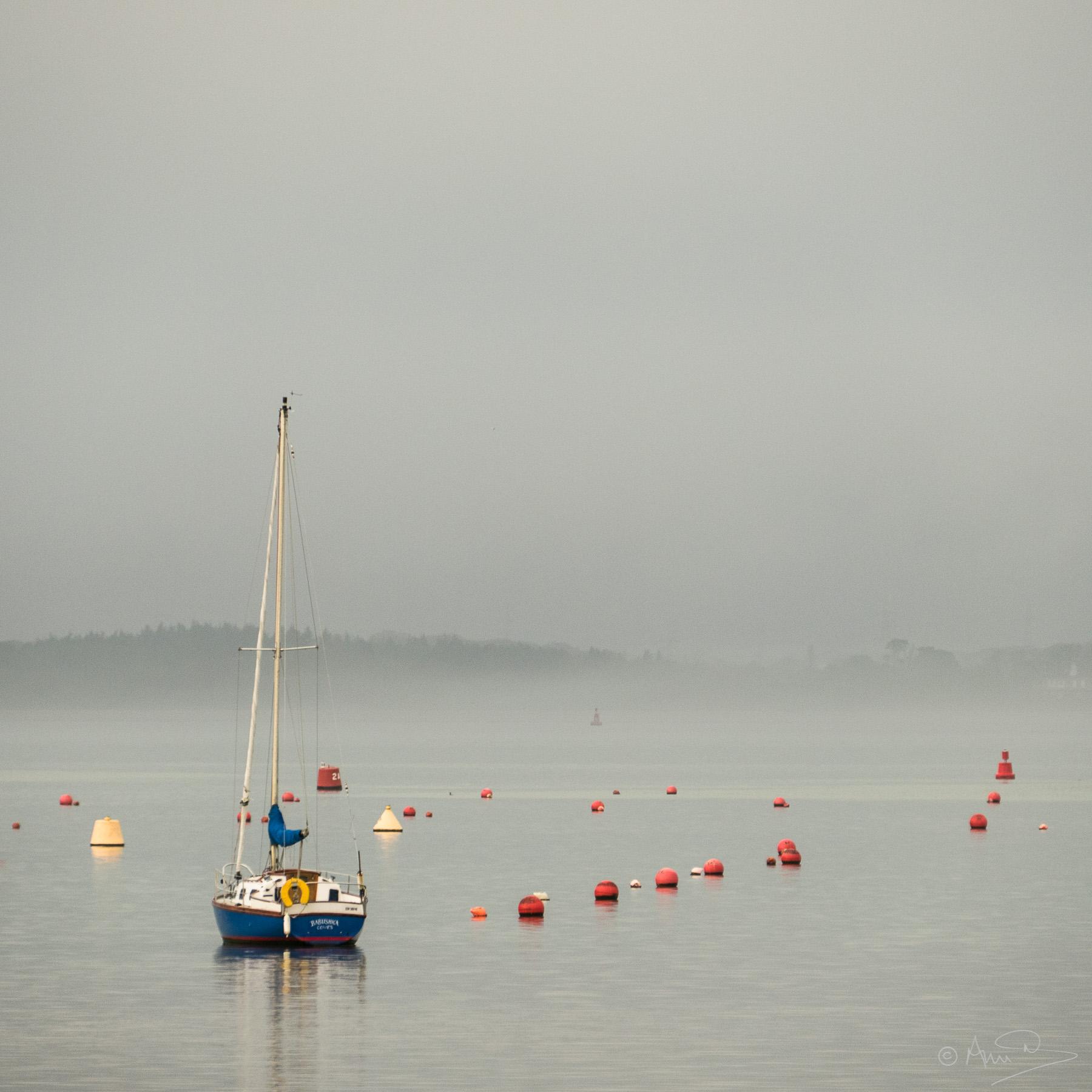 Babushka in the mist