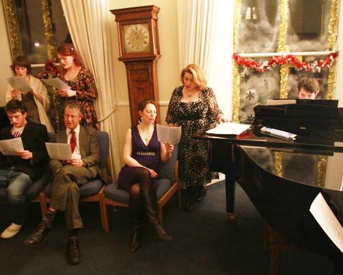 Carols, followed later by show tunes around the piano 2010.
