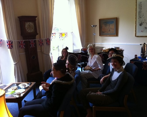 Morning tea for Royal Wedding celebrations at the house 2011.