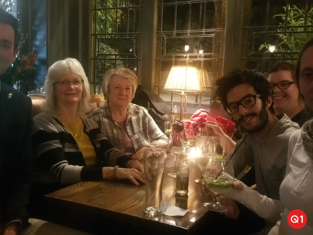 Team 'Second Time Lucky' triumph in The Champion Pub quiz on 25/04/17  The team is made up of staff, a student, a member and a member of the Student House Committee.