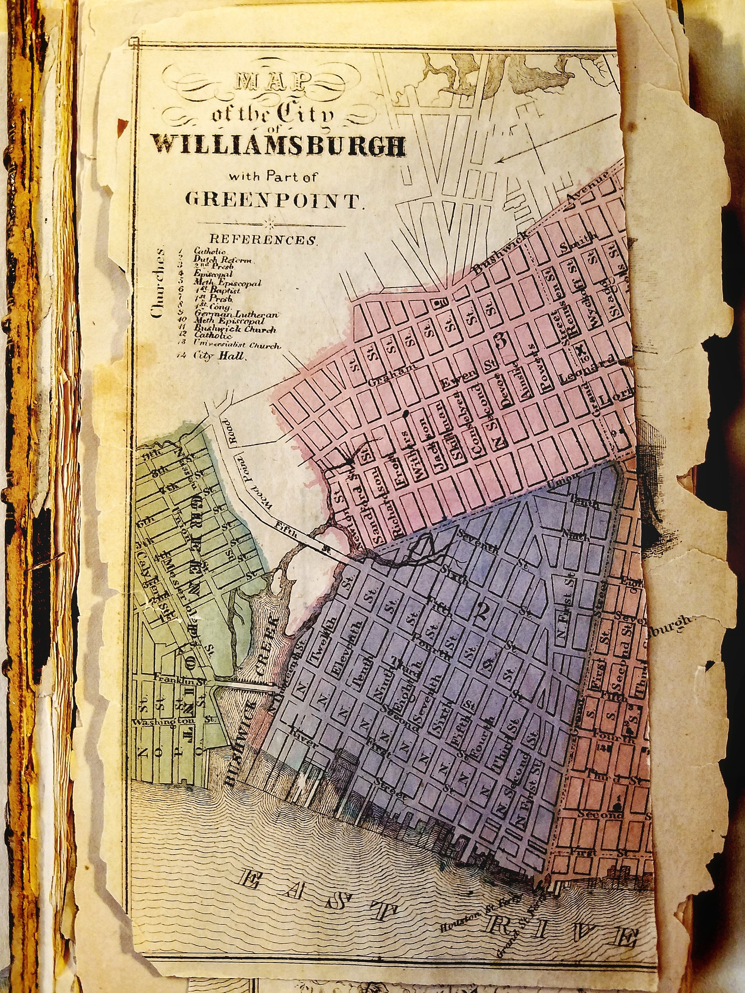 Map of Williamsburgh, Kings County, 1852.
