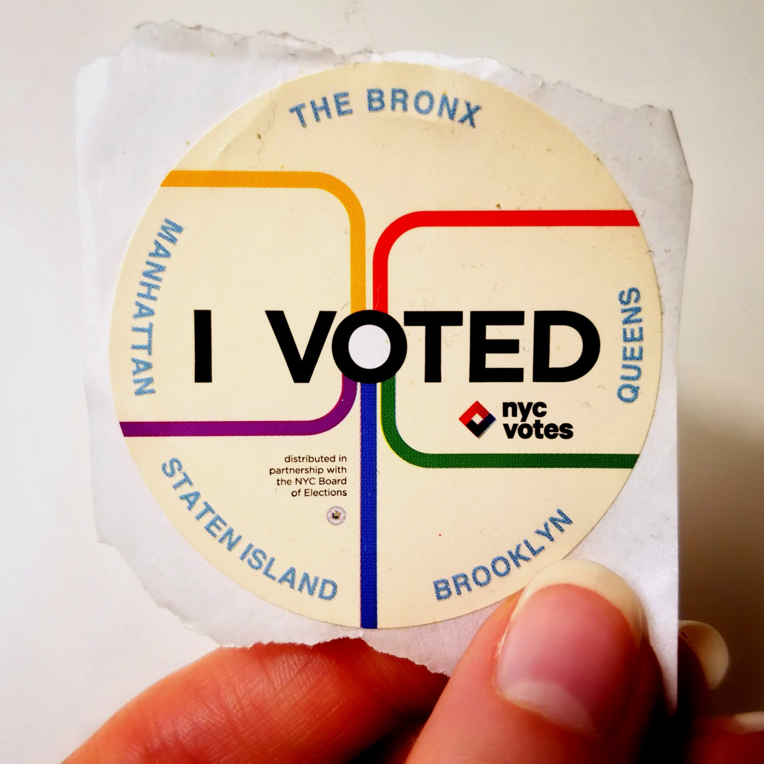 """I saved my """"I Voted"""" sticker from last year. How very Leslie Knope of me!"""