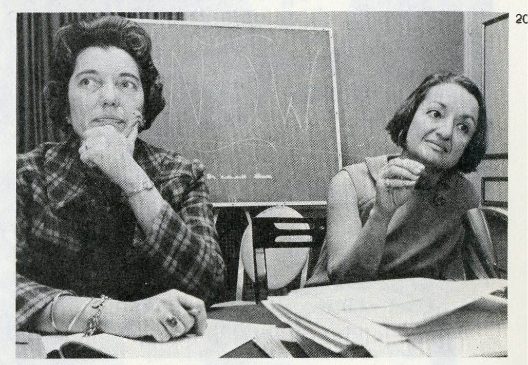 Kay Clarenbach (left) and Betty Friedan (right)
