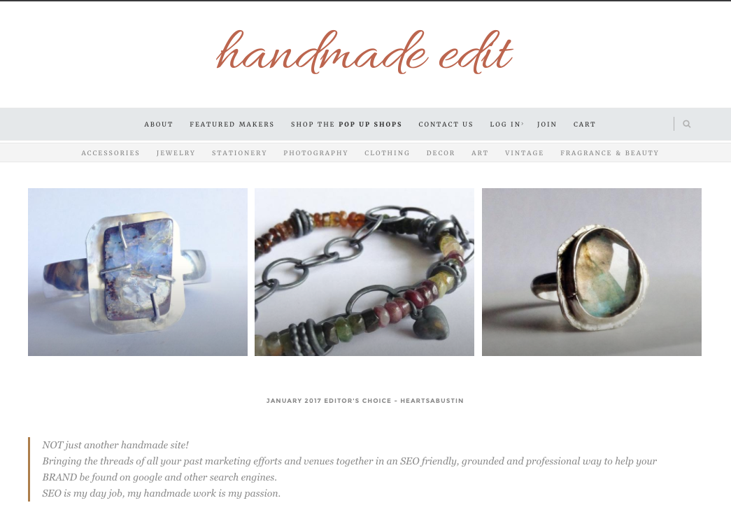 Handmade edit site preview