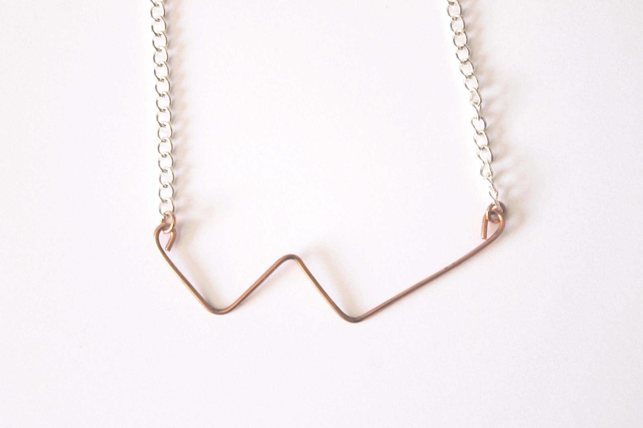 Cassiopeia necklace  Materials:  recycled copper wire & curb chain