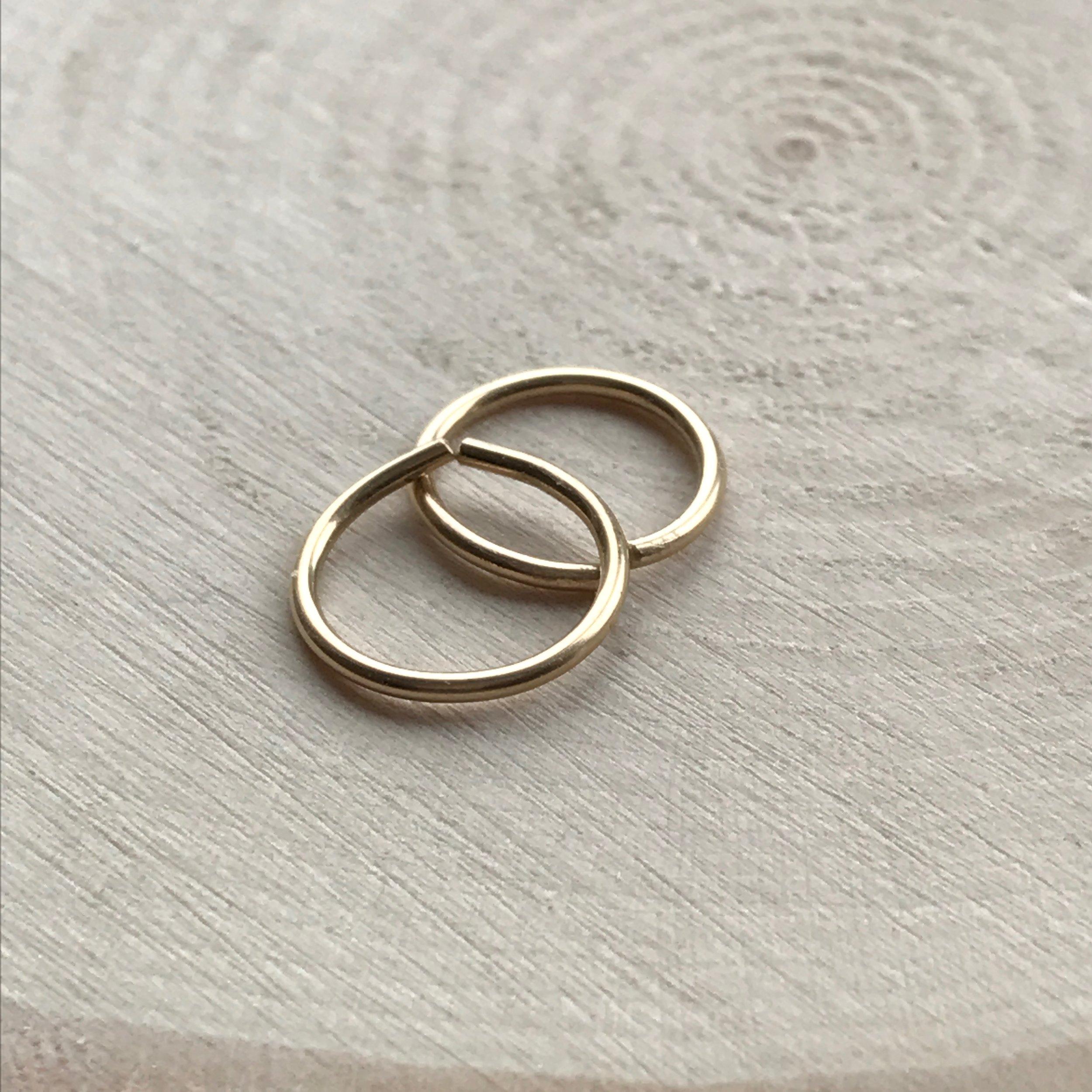 14k Gold fill, 10mm diameter, 18ga handmade in UK
