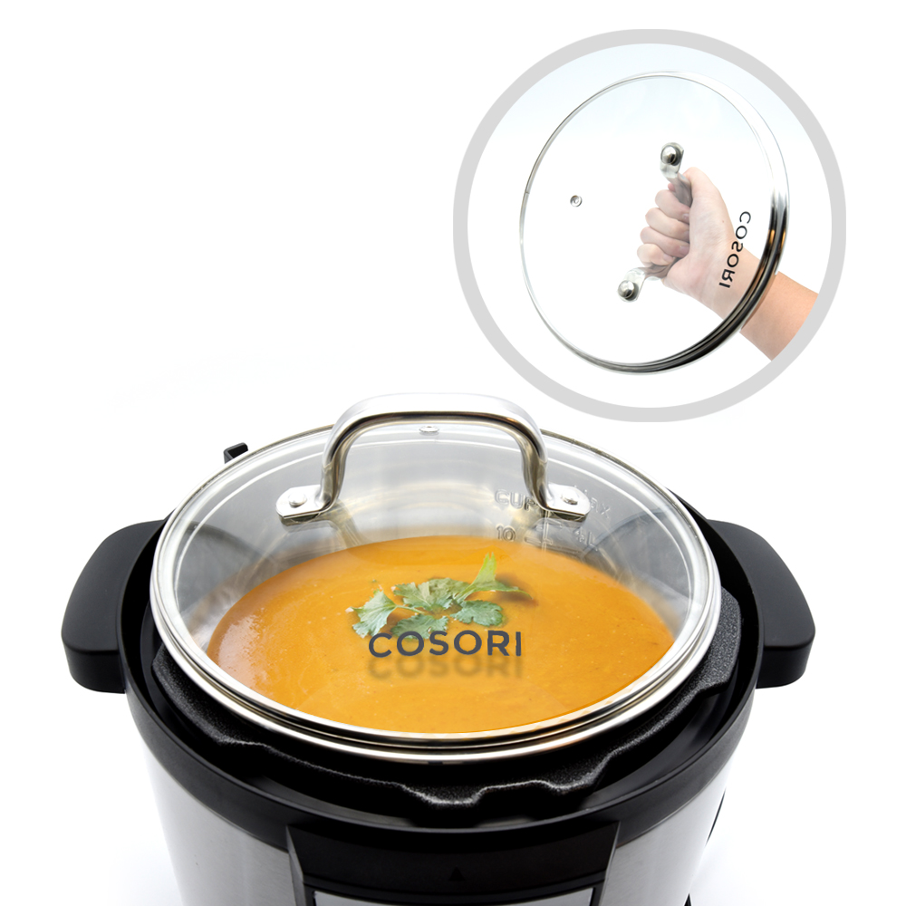 READY TO SERVE   Includes a glass lid perfect for presenting your delicious dish before serving it.
