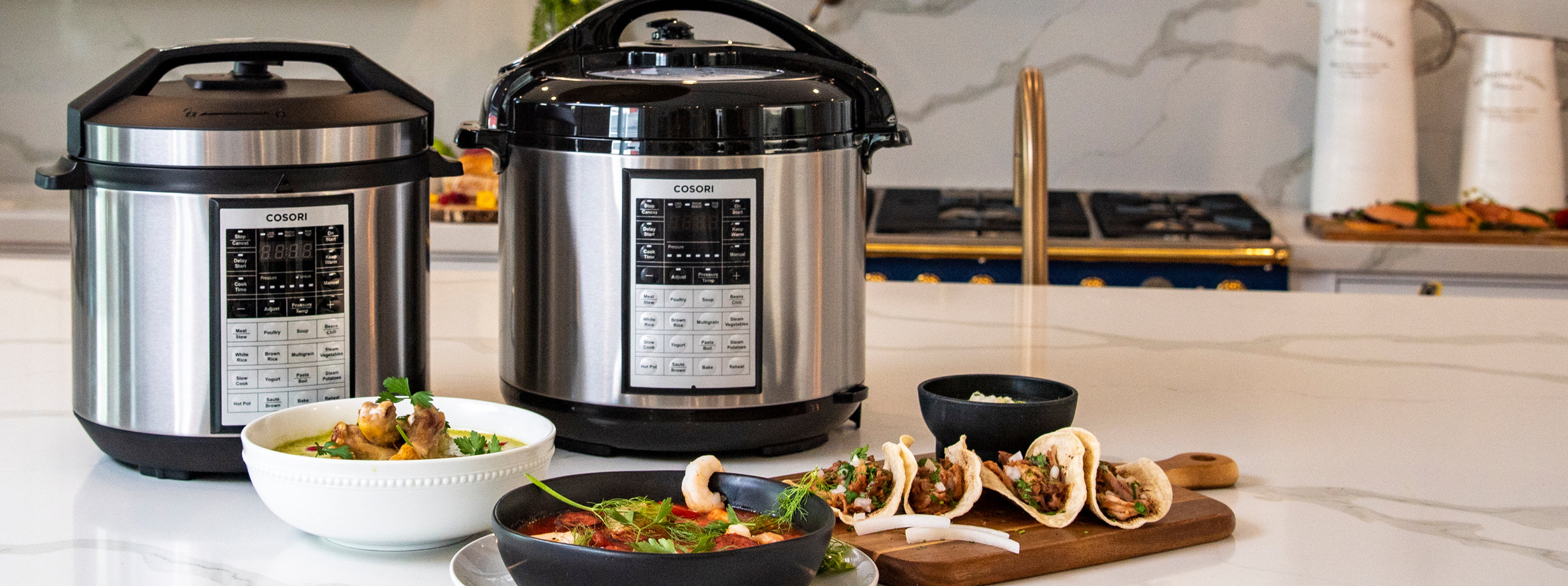 These recipes were made for Cosori Premium Pressure Cooker models    CP016-PC    and    CP018-PC   .