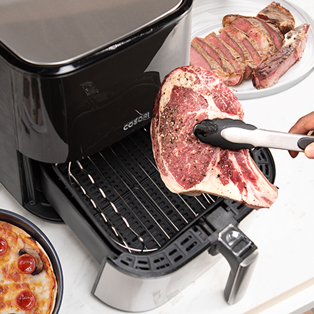 Accessorize Your Fryer   5 skewers and 1 skewer rack come with your air fryer. Cook your food in more ways than you thought possible.