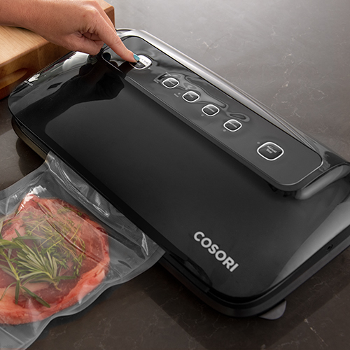 """Automatic Vacuum Sealing   Simply press the """"Vac & Seal"""" button to automatically vacuum seal your food."""
