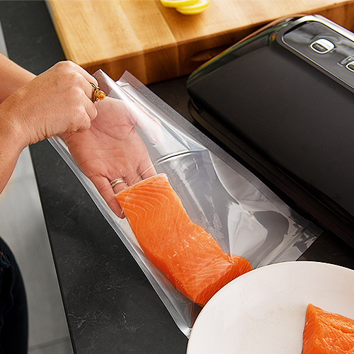 Waterproof Bags   The waterproof vacuum bags not only help prevent freezer burn, but can also be resealed and reused.