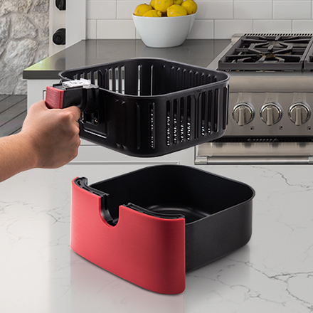 Detachable Basket   A removable inner basket means it's easy to separate and clean the part that gets up close and personal with your food. You can also bring it to where you're preparing food for extra convenience.