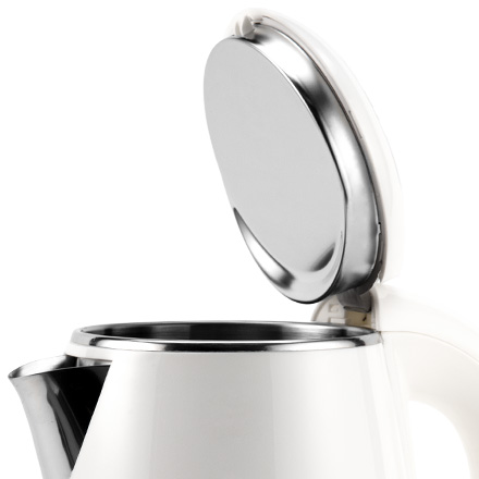 Stainless Steel Construction   The spout, inner lid, and inner pot are made with food-grade stainless steel, so no plastic touches your water.