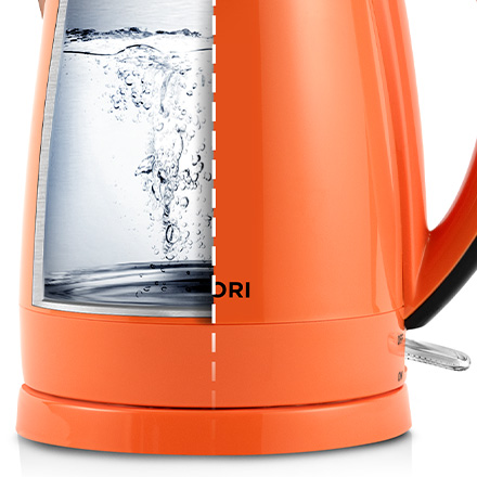 Rapid Boil   You can enjoy a hot drink in no time. Push the on/off switch down, and you'll have boiled water in only 3–7 minutes.
