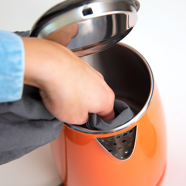 Wide Opening Lid   The wide opening makes cleaning your kettle easier than ever. You can easily fit a sponge or cloth inside for quick cleaning.