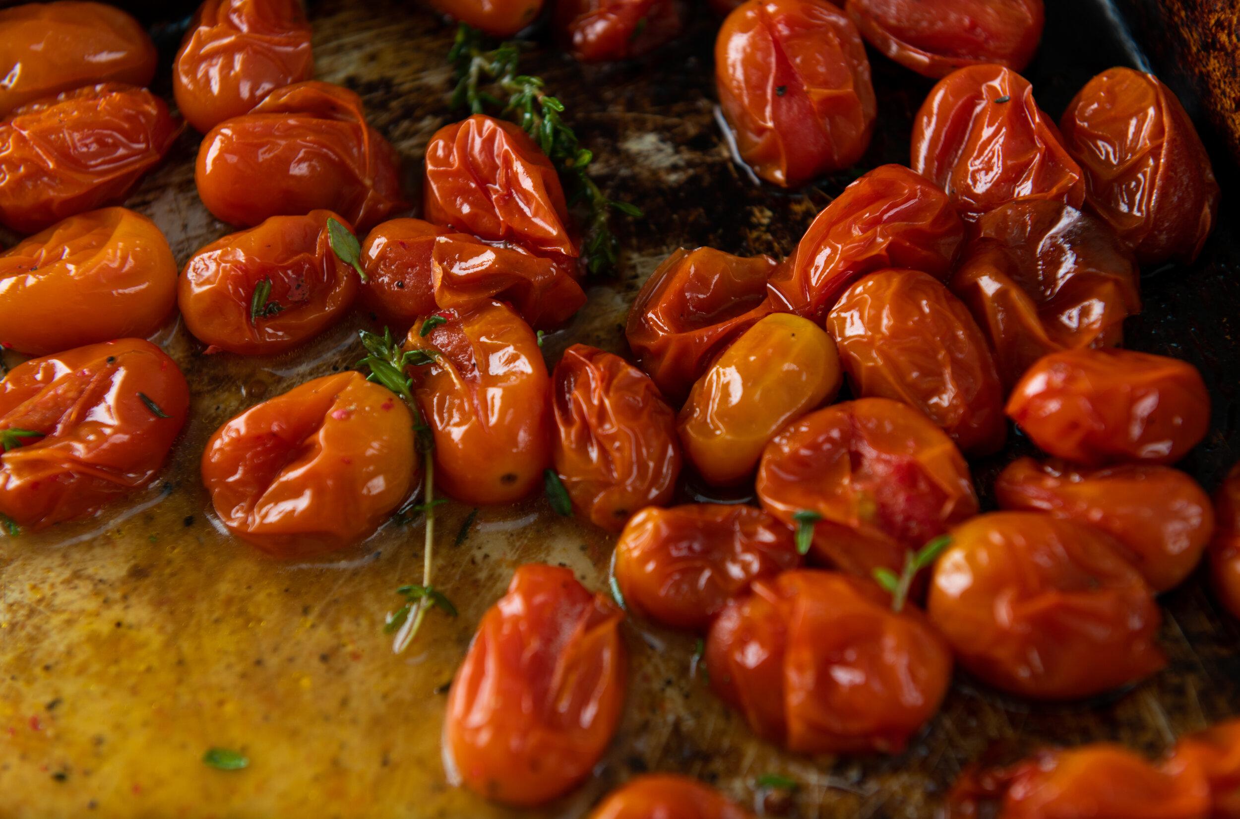 Italian Baked Grape Tomatoes