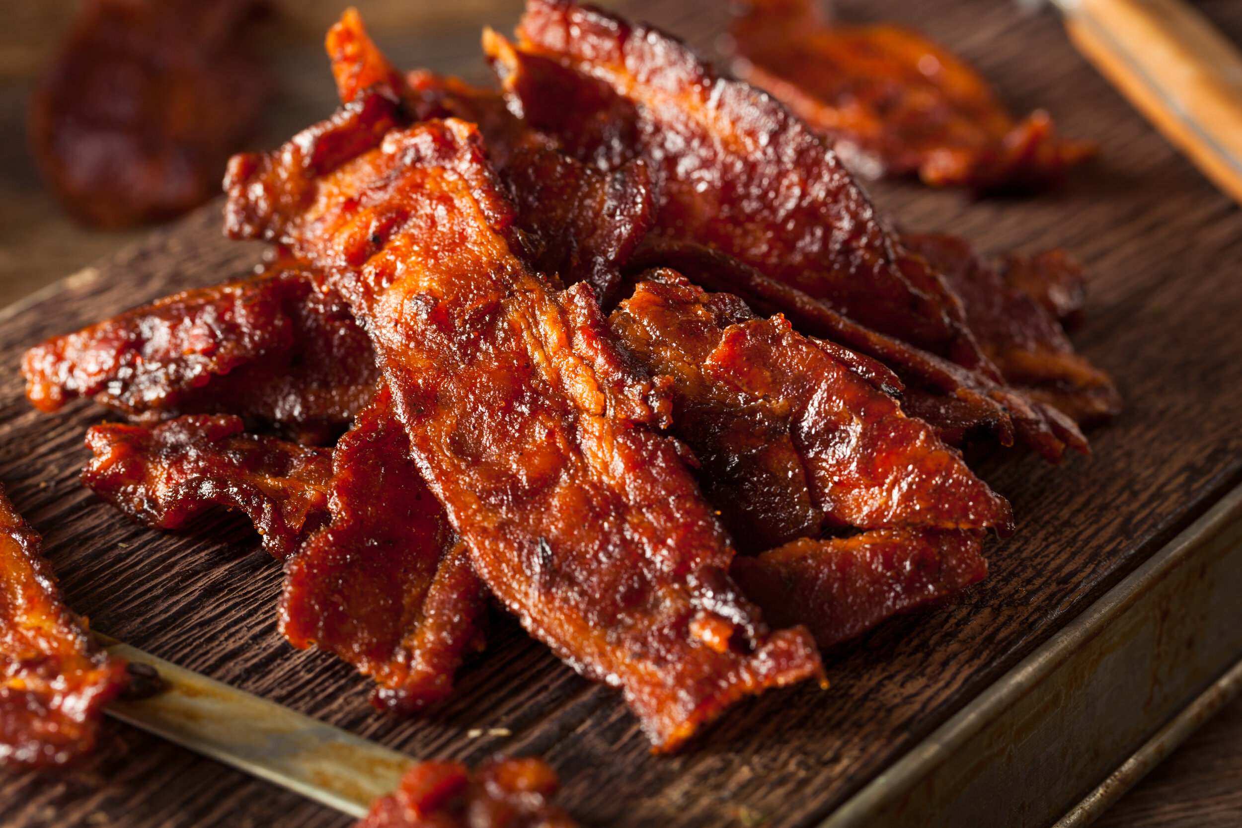 Dehydrated Candied Bacon