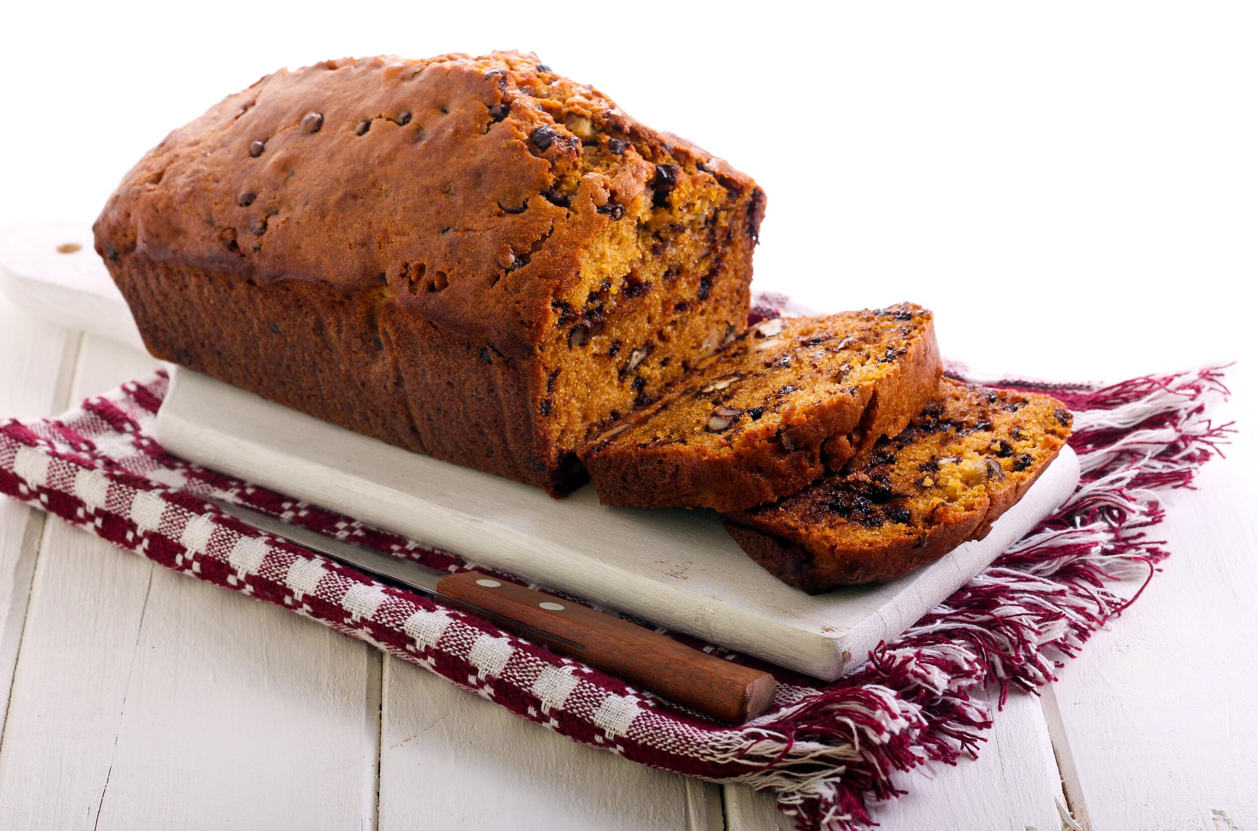 Walnut Raisin Pumpkin Bread
