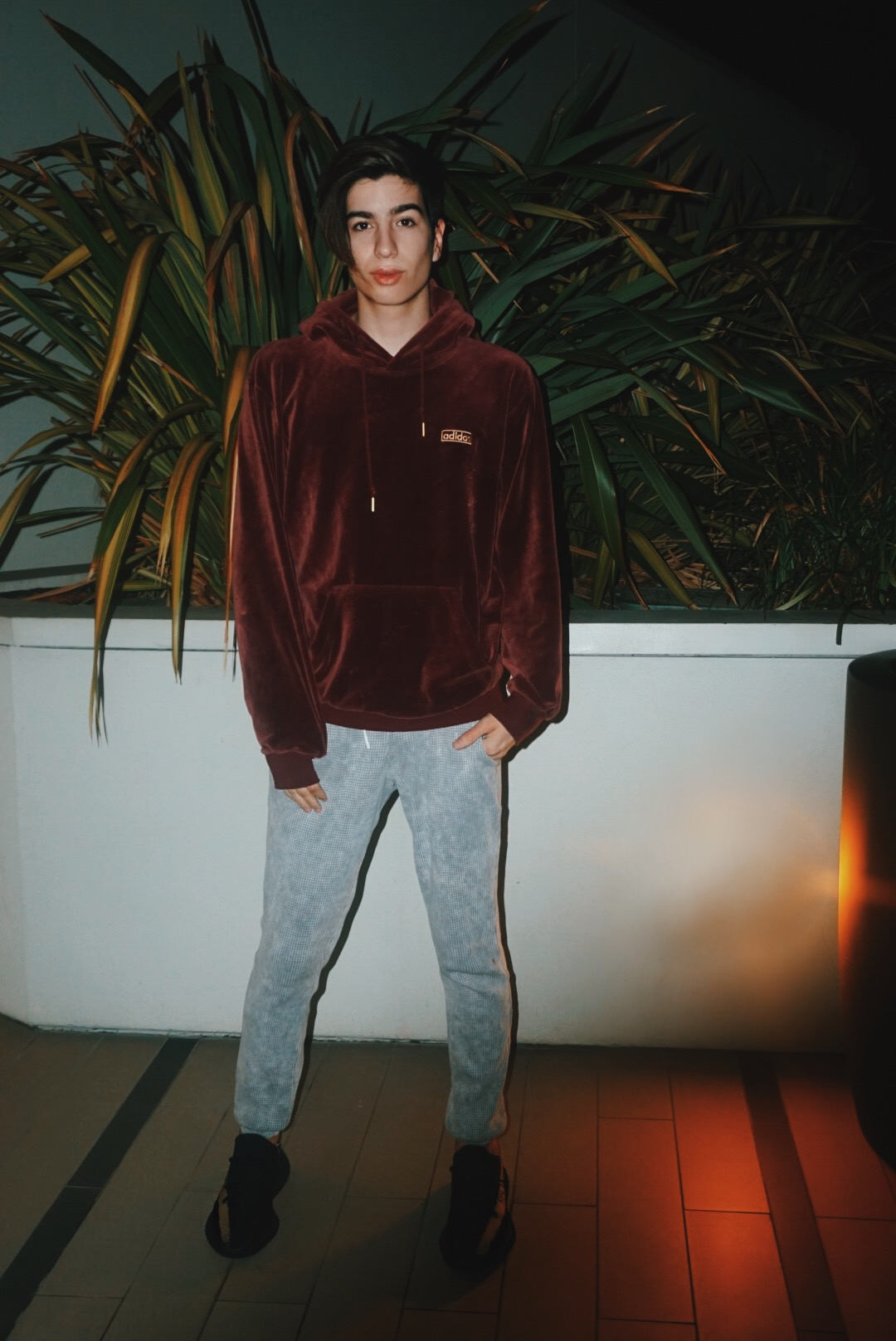 Adidas Velour Hoodie  Cotton Citizen Long Johns  Yeezy Boost