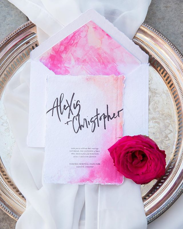 this brightly colored invitation suite surely means summer is on the horizon 🌹🍒 ⠀⠀⠀⠀⠀⠀⠀⠀⠀ ⠀⠀⠀⠀⠀⠀⠀⠀⠀ ⠀⠀⠀⠀⠀⠀⠀⠀⠀ ⠀⠀⠀⠀⠀⠀⠀⠀⠀ ⠀⠀⠀⠀⠀⠀⠀⠀⠀ ⠀⠀ ⠀⠀⠀⠀⠀⠀⠀⠀⠀ ⠀⠀⠀⠀⠀⠀⠀⠀⠀ Planner + Designer | @brehant_creations Photographer | @emmathurgoodphoto Concept | @chelseaelizaphotography Florist + Rentals | @rcp_events Rentals | @alwaysstyledevents Gowns | @jbridalkouture Stationery | @lettersbylash Cake | @curvys_ct Spray Tan | @sun_on_6 Macrame | @lepetitknot Dog Coordinator | @fortheloveofpawsss Model | @reeeniebean Model | @treesforlimbs Model | @jmichael1106 Hair + Makeup | @transcendentmakeup ⠀⠀⠀⠀⠀⠀⠀⠀⠀ ⠀⠀⠀⠀⠀⠀⠀⠀⠀ ⠀⠀⠀⠀⠀⠀⠀⠀⠀ ⠀⠀⠀⠀⠀⠀⠀⠀⠀ ⠀⠀⠀⠀⠀⠀⠀⠀⠀ ⠀⠀ ⠀⠀⠀⠀⠀⠀⠀⠀⠀⠀⠀⠀⠀⠀⠀ ⠀⠀⠀⠀⠀⠀⠀⠀⠀ ⠀⠀⠀⠀⠀⠀⠀⠀⠀ ——— #calligraphy #handlettering #calligrapher  #calligraphylove #weddingstationery #weddingseason #weddingvendor #weddingcalligraphy #cardsandpockets #summerwedding #weddingseason #invitationsuite #designinspiration #placecards #weddinginspiration #handmade #ctweddings #newenglandwedding #weddingday #stationery #fabulousfancypants #brides #weddinginvitations #ctbride  #lettersbylash #lettering #calligstagram #handlettered #artist #moderncalligraphy