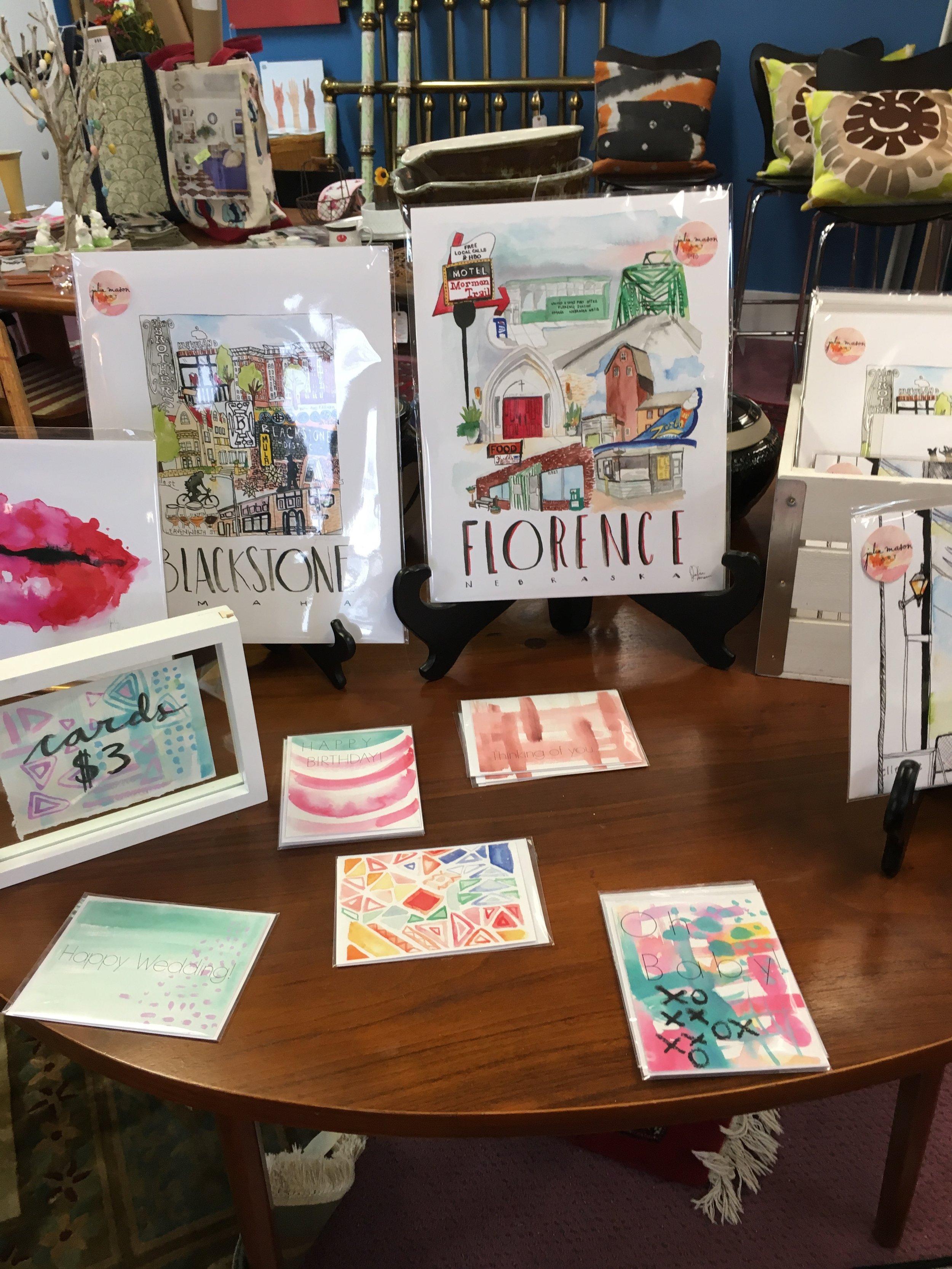 Julia Mason watercolors celebrate Omaha's charms.