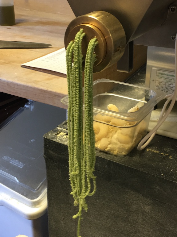 After the wood-oven, Nick says the pasta machine is his second-favorite kitchen tool. No more girly pasta-folding!
